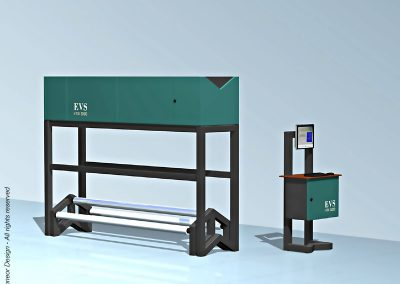 EVS 2006 fabric printing inline inspection system Model iTex3000