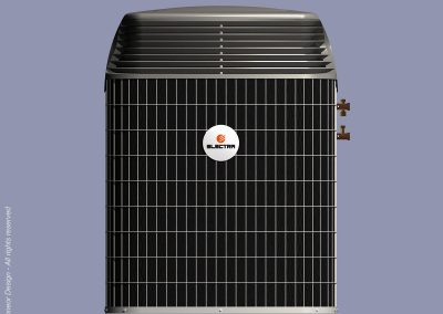 Electra 2001 Central Air Conditioner external unit, condenser. Front view