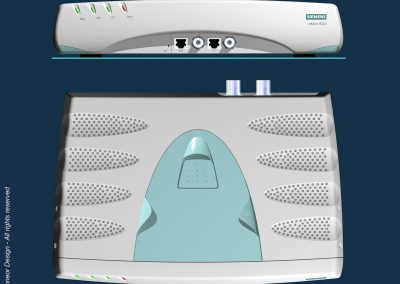 Floware 2000 Broadband system, Model TS1003 top and front view