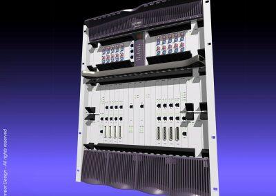 "Floware 2001 Broadband Wireless Access (BWA) system Model WALKair 3000, 19"" rack mount general view"