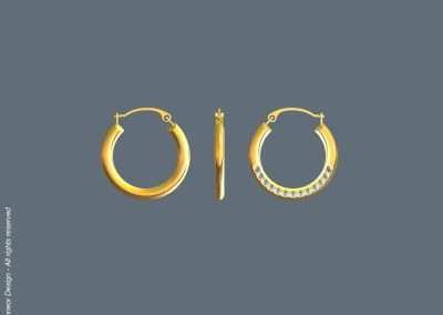Irit Schneor 2008 Gold with diamonds earrings design