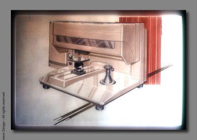 Kulicke and Soffa 1991 Wire-bonder Model KS6495 handmade rendering
