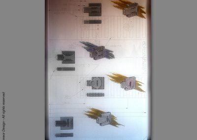 Lanoptics 1990 network adapters, design renderings