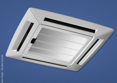 Tadiran 1996 Cassette Air Conditioner ceiling vent cover and register