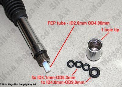 Avi's Silvia Mega-Mod Steam wand tip parts