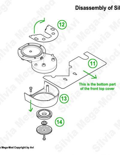 Avi's Silvia Mega-Mod disassembly grouphead parts