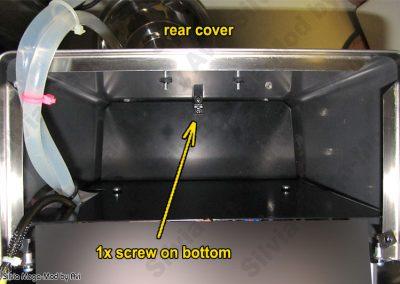 Avi's Silvia Mega-Mod disassembly cover screw