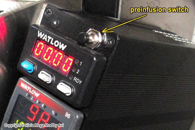 Silvia Mega-Mod p6 pre-infusion