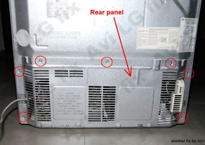 Rear panel screws location
