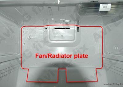 Identify fan/radiator front panel