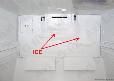 Plate with ice
