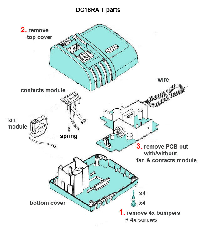 Makita DC18RA charger conversion to 220VAC - Schneor Design ... on