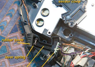 Sensor case and parts