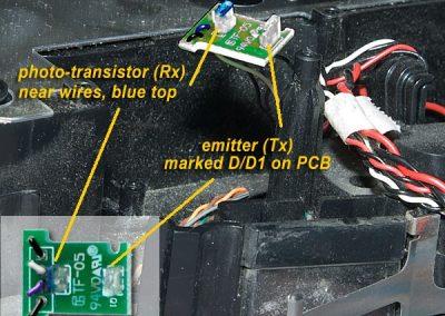 IR PCB on Roomba