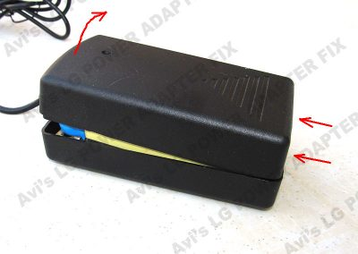Open the power adapter case