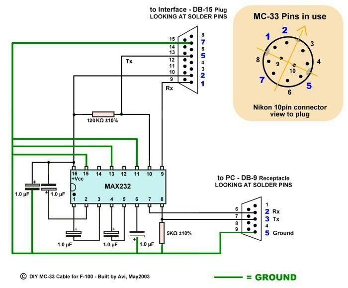 Avi's Nikon F100 DataCable-1 schematic