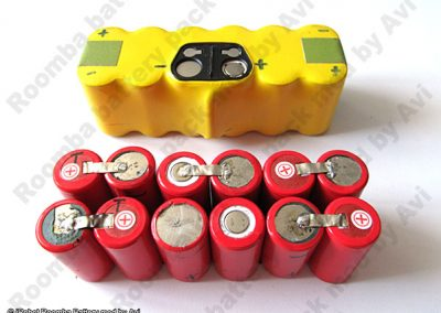 Genuine battery top view
