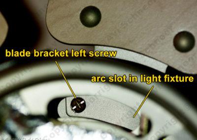 blade bracket screws view from bottom