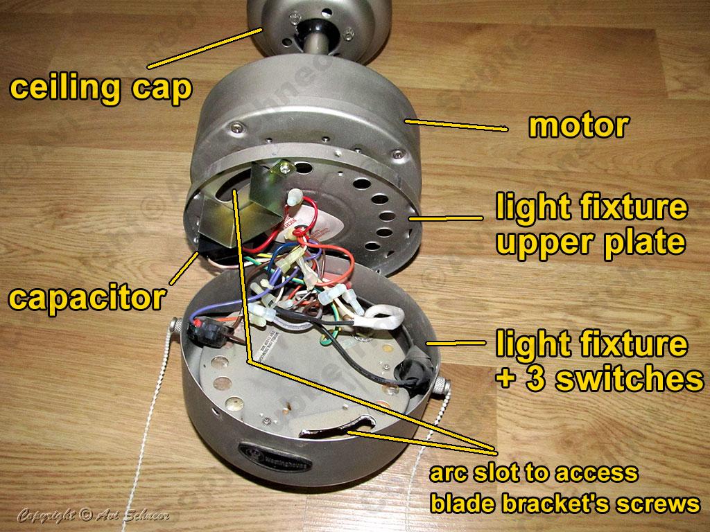 Westinghouse ceiling fan main parts