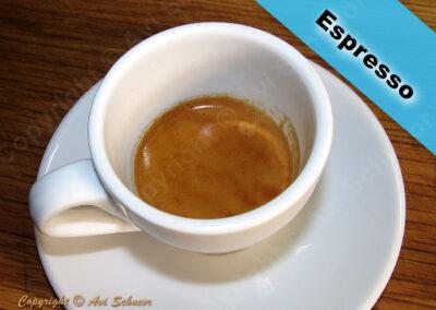 מראה קפה אספרסו בכוס אספרסו A cup of Espresso