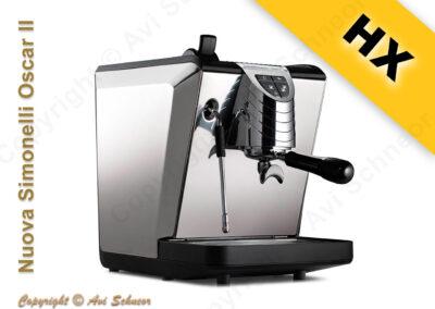 דוגמא למכונת קפה מחליף חום HX coffee machine
