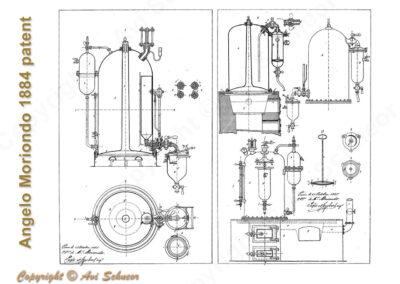אחד מתרשימי המצאתו של אנג'לו מוריאונדו Angelo Moriondo patent's drawing