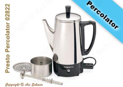 דוגמא למכשיר פרקולטור חשמלי Percolator coffee maker