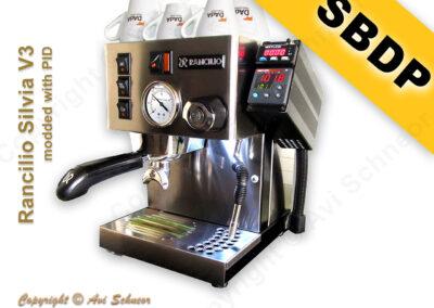 דוגמא למכונת קפה עם דוד יחיד והקצפה PID כולל SBDP coffee machine with PID