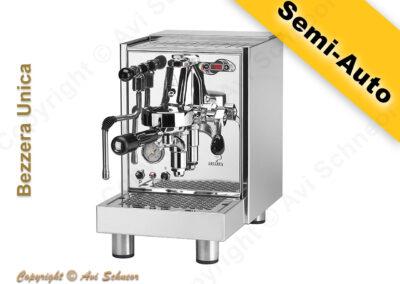 דוגמא למכונת קפה חצי־אוטומטית Semi-Auto coffee machine