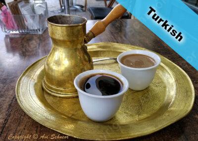 דוגמא לקפה טורקי A sample of Turkish coffee